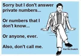 No Phone calls please